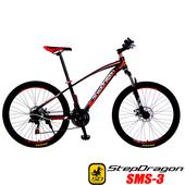 《預購6/15出貨StepDragon》SMS-3 日本 SHIMANO 21速碟煞登山車(黑紅)