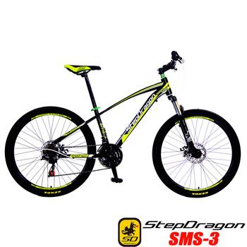 《預購6/15出貨StepDragon》SMS-3 日本 SHIMANO 21速碟煞登山車(黑綠)