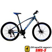《預購6/15出貨StepDragon》SMS-3 日本 SHIMANO 21速碟煞登山車(黑藍)