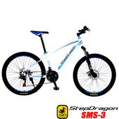 《預購6/15出貨StepDragon》SMS-3 日本 SHIMANO 21速碟煞登山車(白藍)