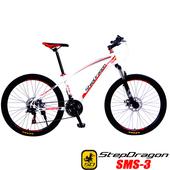 《預購6/15出貨StepDragon》SMS-3 日本 SHIMANO 21速碟煞登山車(白紅)