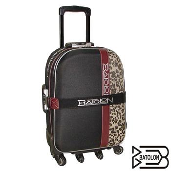 BATOLON寶龍 29吋貴氣豹紋行李箱(黑)