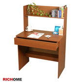 《RICHOME》好學生書桌(棕木紋)