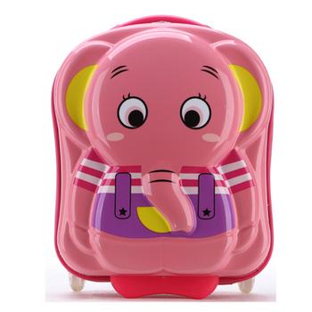 GO TRIP 尚旅 16吋 可愛大象兒童行李箱/旅行箱/登機箱(淘氣粉)
