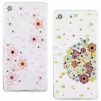 【施華洛世奇】SONY Xperia M5 E5653 花系列彩鑽保護軟套(繡球花)