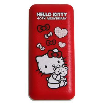 HELLO KITTY 行動電源 5200mAh 40周年紀念版(紅色)