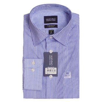 MURANO 美版商務長袖襯衫 - 藍格紋(16)