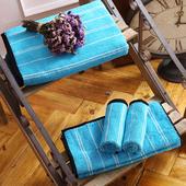 《MORINO摩力諾》美國棉前漂色紗條紋毛巾1入(天空藍)
