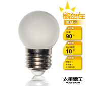 《太星電工》觀自在LED磨砂燈泡E27/0.5W(ANA526L-暖白光)