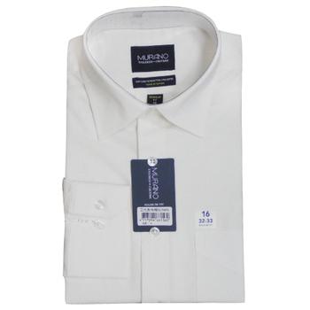 《MURANO》美版商務長袖襯衫 - 白(15.5)