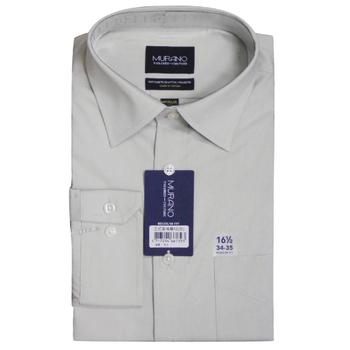 《MURANO》美版商務長袖襯衫 - 灰(15.5)