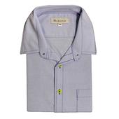 《MURANO》男款休閒牛津長袖襯衫 - 淡藍(L)