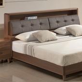 《日本直人木業》5尺標準雙人wood北歐生活收納床頭