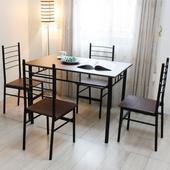 《RICHOME》席拉餐桌椅組(一桌四椅)
