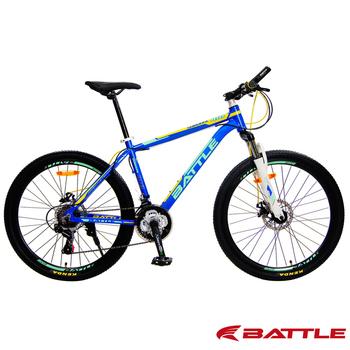 BATTLE 征服者BMA-600 升級版 26吋 Shimano 21速鋁合金登山車-DIY版(藍橘綠)