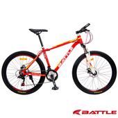 《BATTLE》征服者BMA-600 升級版 26吋 Shimano 21速鋁合金登山車-DIY版(紅橘白)