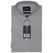 《MURANO》美版商務短袖襯衫 - 灰(15.5)