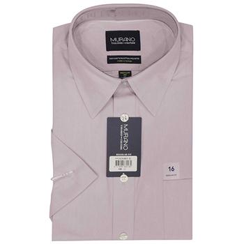 《MURANO》美版商務短袖襯衫 - 粉(15.5)