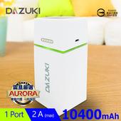 《DASUKI》10400mAh LED手電筒行動電源(白)
