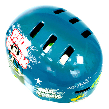 BELL Fraction BMX安全帽/童帽/成人 (Paul Frank大嘴猴) 51~56cm(藍色S號)