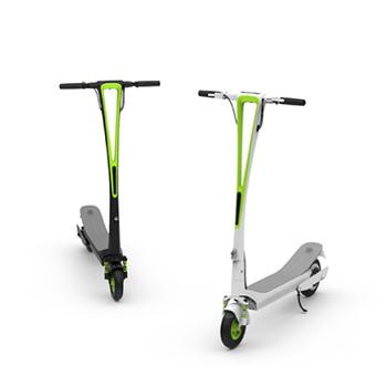 TECHONE INMOTION L6 綠能電動環保車 滑板車(白綠)