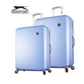 《英國 Slazenger 史萊辛格》24+28吋 珠光橫條紋行李箱/拉桿箱(紐約藍)