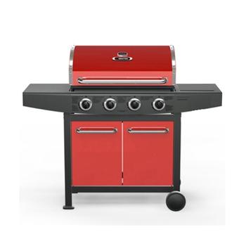★結帳現折★烤爐行家 4支主燃燒器-戶外休閒-大型GAS瓦斯烤肉爐(限用液化瓦斯桶)(紅色+黑色)