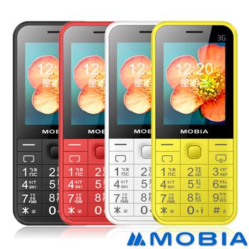 MOBIA M105 3G 直立式 老人/軍人手機(亞太4G/台灣之星可用-贈手機套)(紅)