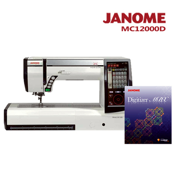 《日本車樂美JANOME》買一送一↘MC12000刺繡縫紉機加送刺繡軟體組合(MC12000D)(MC12000D)
