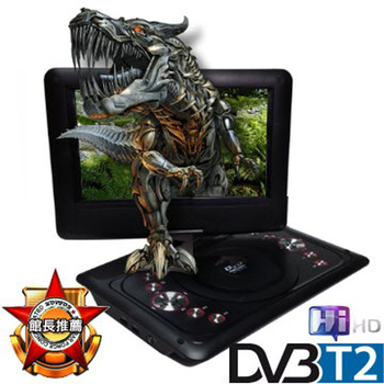 NEROS NEROS 黑龍騎士 10吋LED數位電視隨身DVD(DVB-T)(可撥放2.5小時)