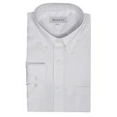 《MURANO》男款經典商務長袖襯衫 - 純白(L)