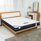 《時尚屋》5尺英式雙色三線獨立筒彈簧床墊