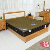 《時尚屋》5尺法式3D立體硬式獨立筒彈簧床墊