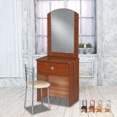 《時尚屋》亞瑟2尺鏡台-含椅子(胡桃色)