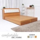 《時尚屋》艾達北歐床箱型2件房間組-床箱+床底