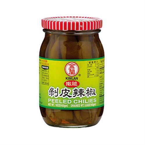 金蘭 嫩脆剝皮辣椒(450gm/罐)