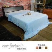 《時尚屋》貝絲納床箱型3件房間組-床箱+床底+床墊(胡桃色)