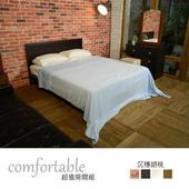 《時尚屋》維隆床片型3件房間組-床片+床底+鏡台(胡桃色)