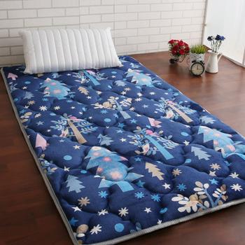 契斯特 新質感八公分超厚實京都日式床墊-單人加大-八色(藍情飛雪)