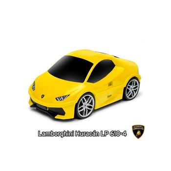 RIDERS Lamborghini 藍寶堅尼 跑車造型 行李箱/玩具箱(黃色)