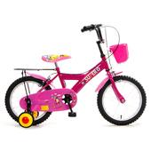 《FUSIN》KB-05 玩樂小子16吋可愛輔助輪童車(三色可選)(粉紅)