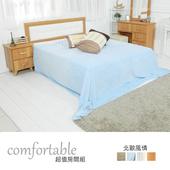 《時尚屋》貝絲北歐床片型4件房間組-床片+床底+床頭櫃1個+床墊(山毛色抽屜)