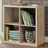 《佳嘉家》DIY伊登四格櫃/書櫃/置物櫃/收納櫃(淺橡色)