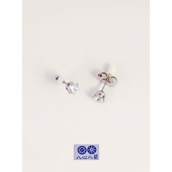 S.S享新 耳針4m/m單鑽八心八箭鋼針耳環(白鑽)