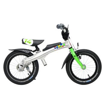 RENNRAD 鋁合金變形滑步車/腳踏車兩用童車14吋(綠)