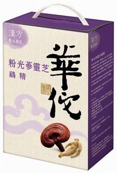 華佗 粉光蔘靈芝雞精(70gx18瓶/盒)