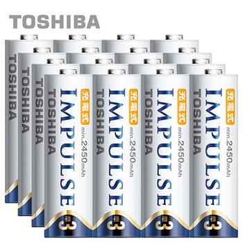 TOSHIBA IMPULSE高容量低自放電電池(2450mAh 3號16入)(3AHCC/16TW)