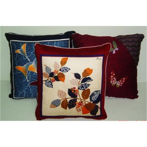 日本風純棉抱枕 對角花藍(50*50cm)