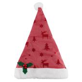 圖騰壓紋網紗聖誕帽