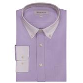 《MURANO》男款白領商務長袖襯衫 - 紫(L)